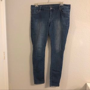 Forever 21 Plus Distressed Skinny Jeans - Size: 14
